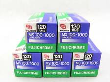 5 Fuji FUJICHROME MS 100/1000 medium format slide film KEPT FROZEN, Expired 2001