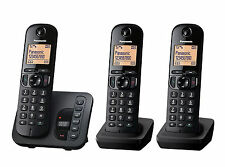 Panasonic KX-TGC223EB Triple Trio Phone DECT Cordless Telephone + Answer Machine