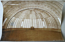 PHOTO architecture design hall circulaire gonflable 360m2 tchecoslovaquie 1963