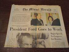 Nixon Resignation Ford President Miami Herald 1974