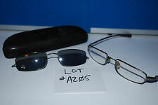 Used Genuine NIKE Flexon Glasses Frames w/ Case and shades - Lot #A205