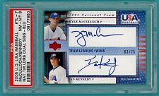 2005 UD USA BB NT Kyle McCulloch/Ian Kennedy Auto Issue #TL - 7 – 63/75 PSA 8!