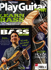 GUITAR TECHNIQUES Presents PLAY GUITAR NOW! Learn Bass + CD David Johnston @New@