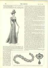 1899 Handsome Evening Coat Lewis And Allenby's Flexible Diamond Bracelet