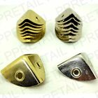 8 x LARGE CASE CORNERS - Strengthen/Finish Box Chest Wood 28mm NICKEL/BRASS NEW