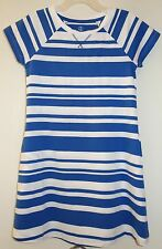 New In Package Lands' End Sail Blue Stripe Cotton Knit Dress Size 16