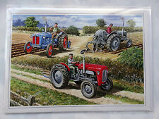 Nostalgic The Ploughing Match Tractor Design Happy Birthday Card