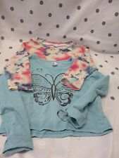 Girls 2 x  Size 10 Sweat Shirts Long Sleeve Crop top Jumper