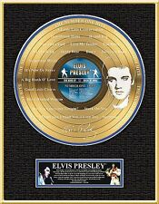 ELVIS PRESLEY ''The Number One Hits'' Etched Gold LP Lot 1545720
