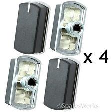 4 x switch bouton pour belling BI70GS FSDF 60DO plaque de cuisson four noir argent 083240900