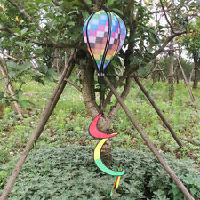 New Colorful Grid Windsock Hot Air Balloon Wind Spinner Garden Outdoor Decor