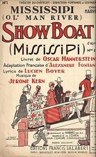 "Jerome Kern ""SHOW BOAT"" Lucien Boyer / Oscar Hammerstein 1929 French Sheet Music"