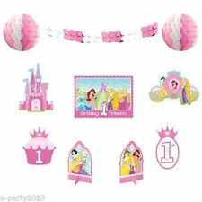 DISNEY PRINCESS 1st BIRTHDAY ROOM DECORATING KIT (10pc) ~ First Party Supplies