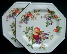 TWO Johnson Brothers Fresh Fruit Pattern Large Size Dinner Plates 26cm One Chip