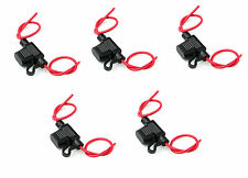 New In line standard, Blade fuse holders, splash proof, Pk of 5, 30Amp, 12V, Car