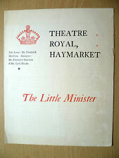 THEATRE ROYAL, HAYMARKET Programme 1897- THE LITTLE MINISTER by J M Barrie