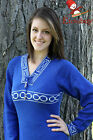 Metis Sweater Etchiboy Chandail Blue Infinity Alpaca Wool Laine Bell Shape S-XXL