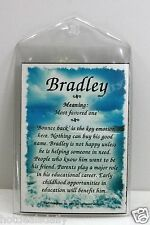 BRADLEY WHAT'S IN A NAME MAGNETS MEANING OF NAME HISTORY OF NAME AND ATTRIBUTES
