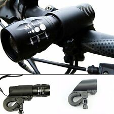 Mountain Bike LED Flashlight Mount Holder For Bicycle Bike Torch Clip Clamp