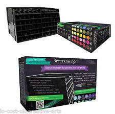 SPECTRUM NOIR MARKER STACKABLE 6 TRAYS STORAGE HOLDS 72 MARKERS