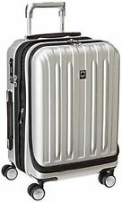 Delsey Polycarbonate Luggage Hard Case Storage Carry Titanium Trolley Silver