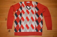 Pringle Of Scotland Golf Diamond Jumper : BNWT : RRP £250 : Size L