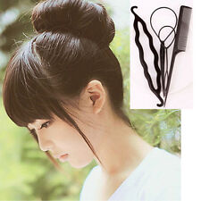 4PCS Dish Hair Accessories Pulling Needle Hook Plate Hairdressing Tool Tail Comb