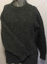 Vintage Pendleton Country Traditionals Gray Cable Knit Wool Sweater Size Medium