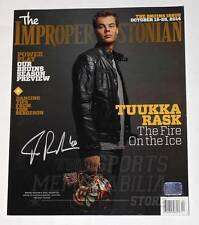 Tuukka Rask Boston Bruins Signed Autographed Improper Bostonian Magazine Cover
