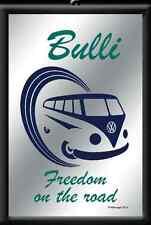 VW BULLI T1 espejo Freedom 20x30 cm en marco 80731 Volkswagen Samba combi bus