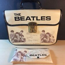 THE BEATLES VINTAGE 1960s NEMS SCHOOL BAG HAND CARRIER W Ramat & CO Pencil Case