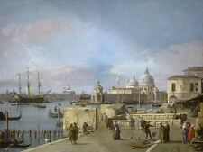 CANALETTO ITALIAN ENTRANCE GRAND CANAL MOLO VENICE ART PAINTING POSTER BB5052A