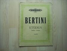 Noten Bertini Etüden für Klavier op.100