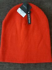 BNWT Topshop Turquoise Red Skater Rib Beanie, RRP £12