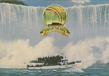 MAID of the MIST BOAT TOUR at NIAGRA FALL POSTCARD - USED NOT POSTED NICE cond.