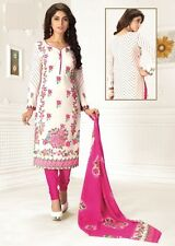 Elegant Crepe Designer Printed Unstitched Dress Material Suit D.No SFD9004