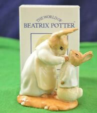 "Belle Beatrix Potter, ROYAL ALBERT ""Mme LAPIN & Peter"" avec boîte gratuite F928"