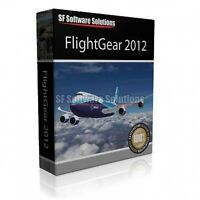 BRAND NEW! FLIGHT GEAR FLIGHT SIM SIMULATOR GAME FOR WINDOWS XP, VISTA, 7