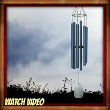 NEW WOODSTOCK CHIMES BELLS OF PARADISE, LARGE, PACIFIC BLUE, MUSICALLY TUNED