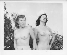 Vintage Nude Photo Original 1950's Two Mature Amateur Women Posing Pinup FL28
