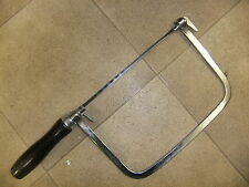 Saw COPING SAW 17cm long blade 12cm high wooden handle