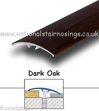 Aluminium Dark Oak Door Bars Threshold Strip Transition Laminate Carpet Tiles