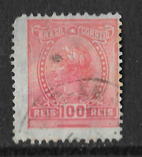 old red brazil stamp 100 reis - see scan