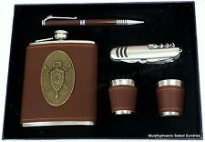 Aladdin Flask Gift Set NIB - Flask, 2 Shot Glasses, Pen, Pocket Knife FREE SHIP!