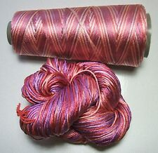 100% Pure Reeled Mulberry Finest Silk Filature Yarn 50 gram - RS003 Pink Party