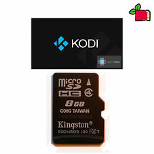 OpenELEC KODI (XBMC) 8GB Kingston SDHC SD Card for Raspberry Pi 2, 3