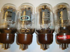 One Closely Matched Quard of Mullard/GEC KT66 Tubes, Strong Ratings