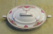 Vintage VICTORIA China Czechoslovakia Oval Covered Serving Dish CASSEROLE