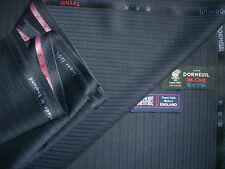 "DORMEUIL SUPER120's WOOL SUITING FABRIC BY Dormeuil""TECNIK""–MADE IN ENGLAND-3.4m"