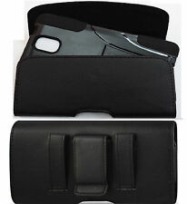 FOR SAMSUNG GALAXY NOTE 4 XL LEATHER  BELT CLIP HOLSTER FIT A HYBRID CASE ON